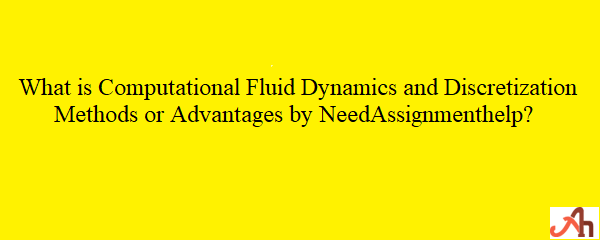 Discretization Methods Computational Fluid Dynamics