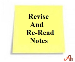 Try To Revise And Re-Read The Notes College Study Tips