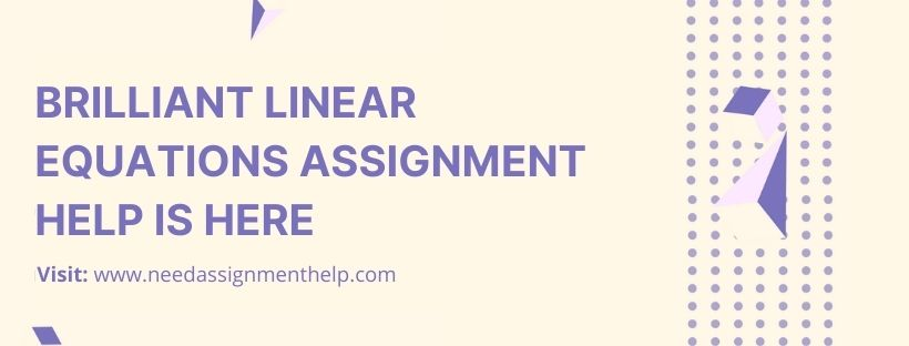Linear Equations Assignment Help