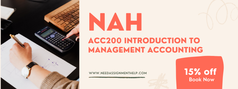 ACC200 Introduction to Management Accounting