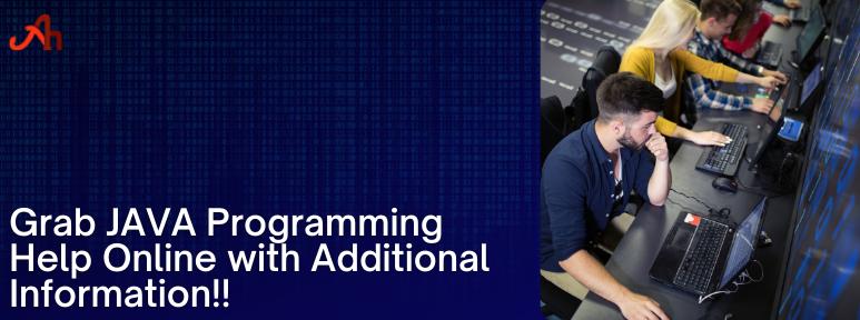 JAVA Programming Help Online